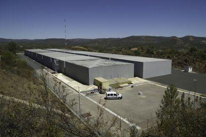 Celdas donde se almacenan los residuos nucleares en El Cabril.