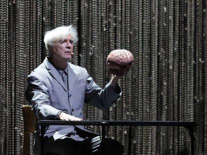 David Byrne, durante su actuación en las Noches del Botánico.