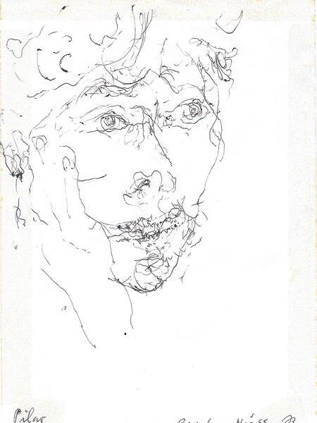 Retrato de Pilar Vázquez realizado por John Berger