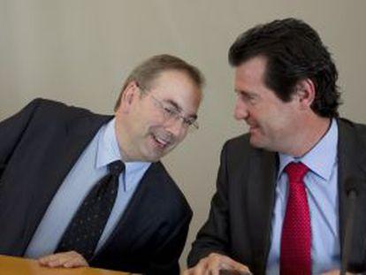 Luis Rosado y José Ciscar, en la conferencia de prensa en Alicante.