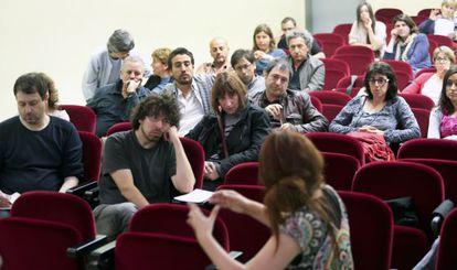Asamblea de profesores asociados de la Universidad de Barcelona, el año pasado.
