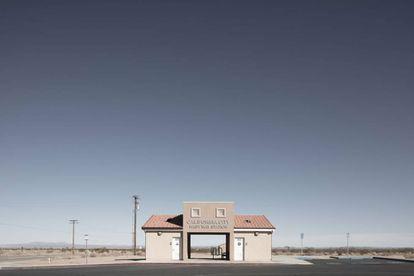 Estación de autobús de California City.  
