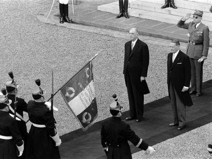 Charles de Gaulle, primer presidente de la V República, en 1959.