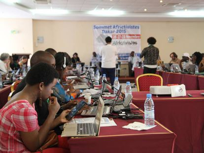 El primer encuentro de Africtivistes, celebrado en Dakar en 2015.