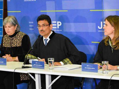 Los responsables de la Jurisdicción Especial para la Paz (JEP).