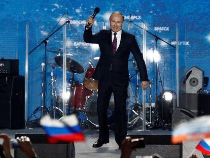 El presidente ruso, Vladímir Putin, este miércoles en Sebastopol.