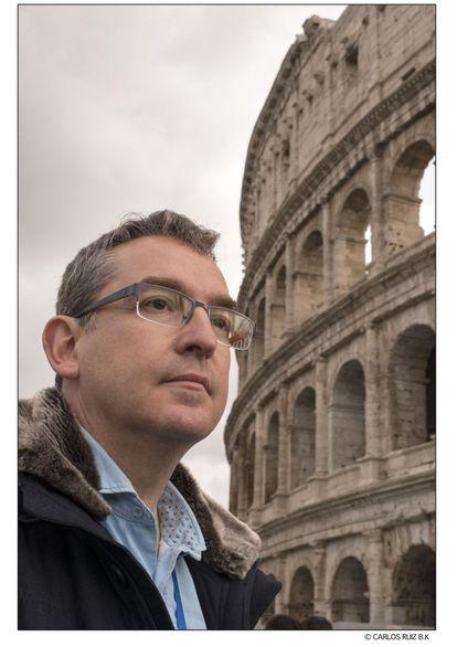 Santiago Posteguillo, en el Coliseo.