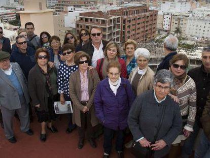 Miembros de la Asociación de Afectados por Los Chonchorros, en Cádiz.