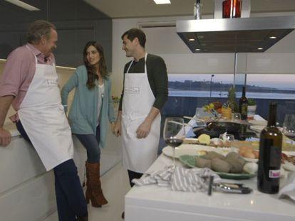 Bertín Osborne con Iker Casillas y Sara Carbonero