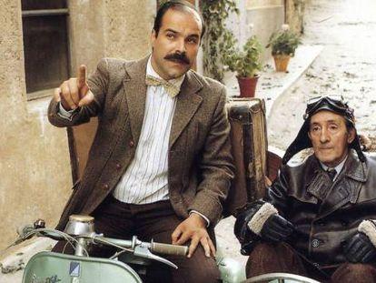 Antonio Resines y Luis Ciges, en una escena de 'Amanece que no es poco'.