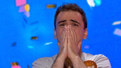 Pablo Díaz tras ganar el bote Passapalabra.