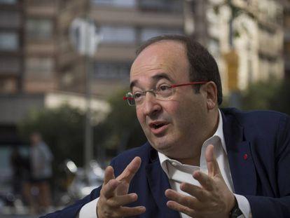 Miquel Iceta, tras ganar las primarias del PSC.