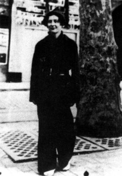 Simone Weil, en España, tras su regreso del frente, en 1936.
