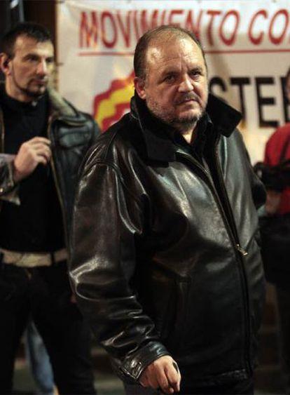 José Luis Roberto, ayer, en la manifestación de Paiporta.