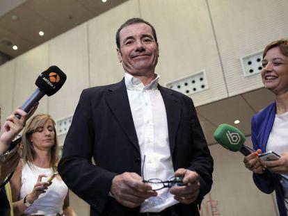 Tomás Gómez en una reunión de la ejecutiva del PSOE en 2015.