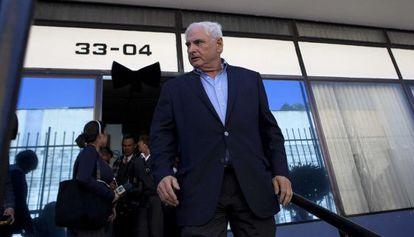 El expresidente de Panamá Ricardo Martinelli a su llegada al Parlamento Centroamericano.