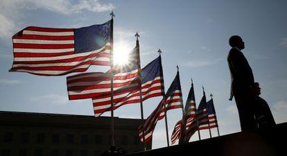 El presidente Barack Obama, durante la conmemoración de los atentados del 11-S en Washington el pasado jueves.