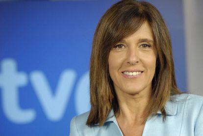 Ana Blanco, presenter of TVE-1's afternoon news show.