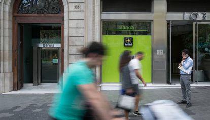 Oficina de Bankia en Barcelona.