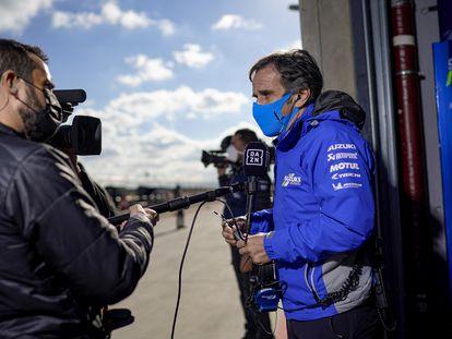 Davide Brivio, director del equipo Suzuki Ecstar, durante el pasado gran premio de Aragón.
