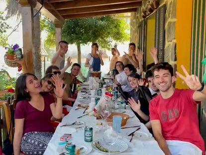 Los alumnos de la 35ª promoción de la Escuela de Periodismo UAM/ EL PAÍS.