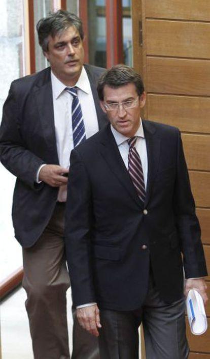Pedro Puy junto al presidente de la Xunta
