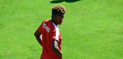 Alaba, en un entrenamiento con la selección austríaca.