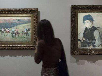'Caballos de carreras: el entrenamiento' (1884) y 'Nelly infeliz' (1885), dos piezas de Degas.