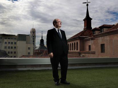Miquel Iceta, ministro de Cultura y Deporte, el lunes en la sede del ministerio en Madrid.