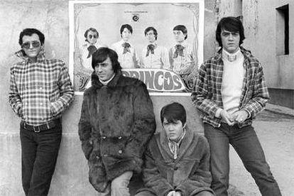 Los Brincos: Manuel González, Fernando Arbex, Ricky y Miguel Morales (de izquierda a derecha), en 1969.