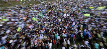 Una protesta de estudiantes en Brasilia el 20 de junio.