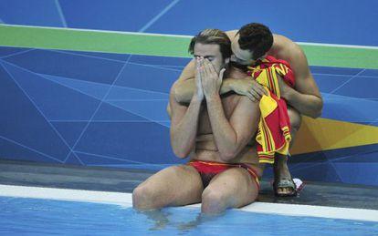 Javier Vallés y Guillermo Molina, tras perder ante Montenegro