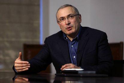 Mijaíl Jodorkovski, durante una entrevista en Londres el pasado 15 de febrero.