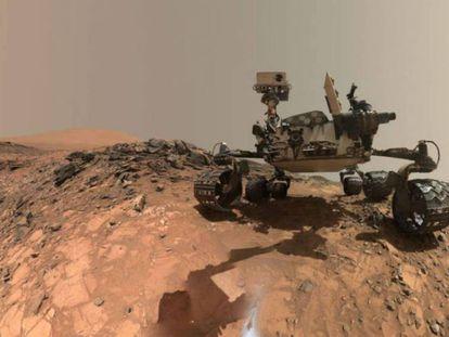 Curiosity, el robot de la NASA que recorre Marte.