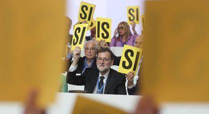 Mariano Rajoy este viernes en el Congreso Nacional del PP.