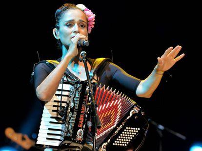 Julieta Venegas, en el concierto de este domingo.