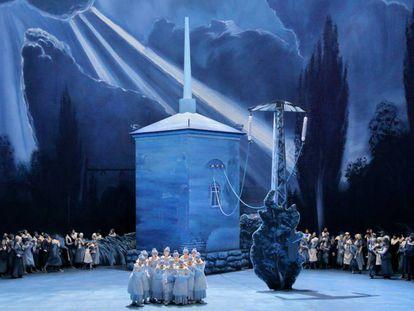 Escena de la ópera 'Lohengrin'.