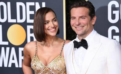 Irina Shayk y Bradley Cooper, en los Globos de Oro, el pasado enero.