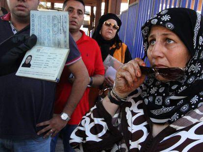 Control en la frontera española en Melilla.