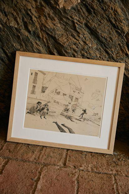 Uno de los dibujos del ilustrador.