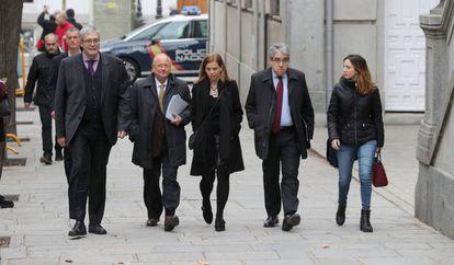 Francesc Homs, a su llegada al Tribunal Supremo la mañana del martes.