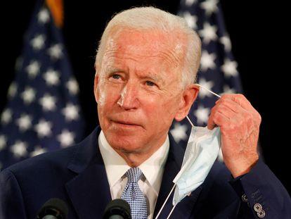 Joe Biden, en un acto de campaña en la Universidad Estatal de Delaware, en Dover, el pasado viernes.