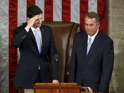 Paul Ryan (izquierda) y John Boehner.
