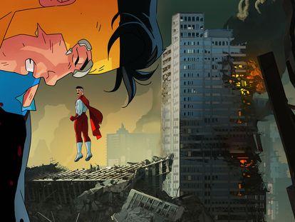 Imagen promocional de la serie 'Invencible'.