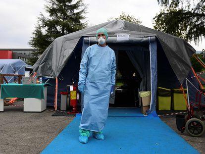 Personal sanitario, en Lombardía.