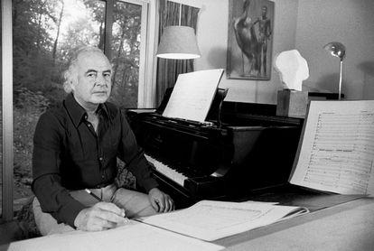El compositor Samuel Barber, retratado en 1971 en Nueva York.