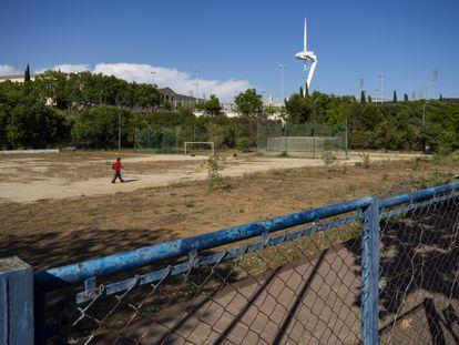 07/06/2021 Campo de fútbol Julià de Campmany en Montjuïc. Foto: Joan Sánchez