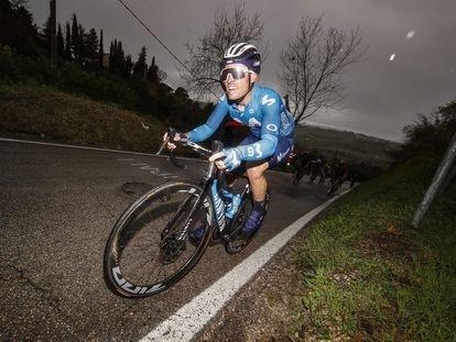Gonzalo Serrano, durante la quinta etapa de la Tirreno-Adriático, el domingo pasado.