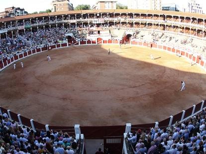 La plaza de toros de Gijón, en una tarde de festejo.
