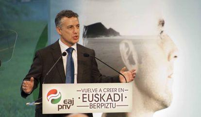 Urkullu, durante su intervención en Bilbao.